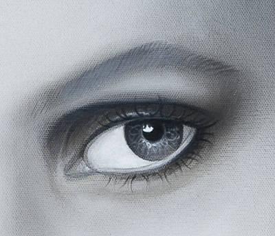 Reflections Eye Art Print by Joshua South