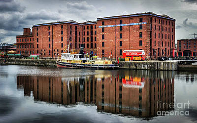 Photograph - Reflections From The Albert Dock In Liverpool   by Andrew White