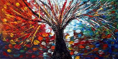 Reflections From Tomorrow  Art Print by Luiza Vizoli