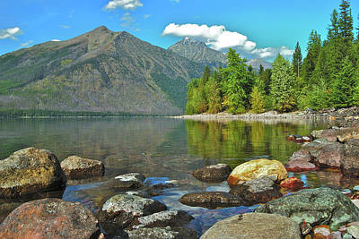 Reflections Glacier National Park  Art Print