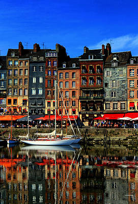 Photograph - Reflections Honfleur France by Tom Prendergast