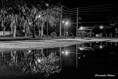 Photograph - Reflections II - Bw by Christopher Holmes