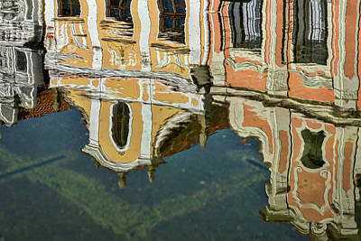 Photograph - Reflections In A Czech Fountain by Stuart Litoff