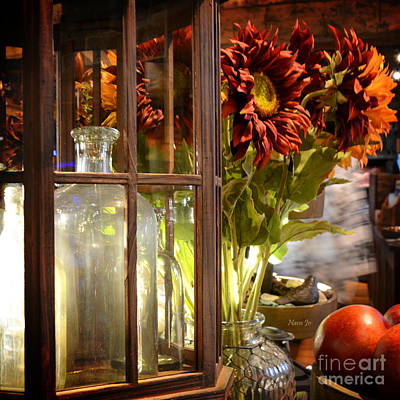 Photograph - Reflections In A Glass Bottle by Nava Thompson