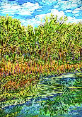 Digital Art - Reflections In A Jade Pond by Joel Bruce Wallach
