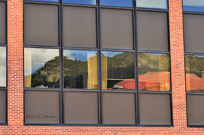 Photograph - Reflections In An Office Building by Kae Cheatham