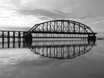 Duluth Photograph - Reflections In Black And White by Alison Gimpel