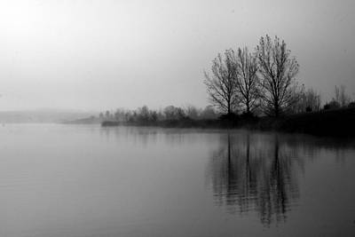 Photograph - Reflections In Black And White by Julie Lueders