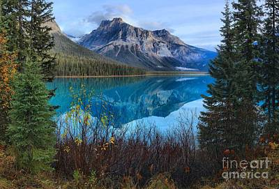 Photograph - Reflections In Emerald Lake by Adam Jewell