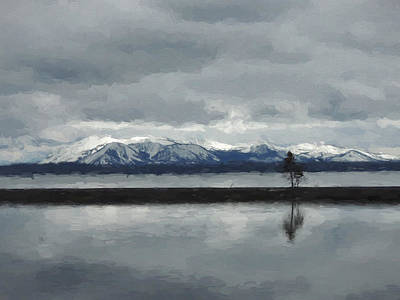Reflections In Lake Yellowstone Art Print