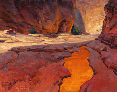 Arizona Painting - Reflections In Red by Cody DeLong