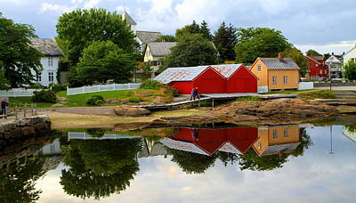Photograph - Reflections In Rorvik by Laurel Talabere
