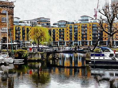 Photograph - Reflections In St Katharine Docks by Dorothy Berry-Lound
