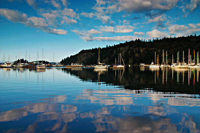 Orcas Island Photograph - Reflections In The Bay by Bill Keiran