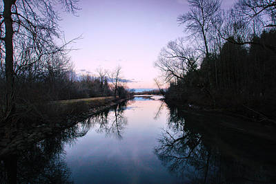 Syracuse Photograph - Reflections In The Erie Canal by George Patterson