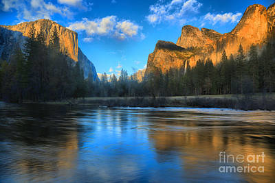 Photograph - Reflections In The Merced River by Adam Jewell