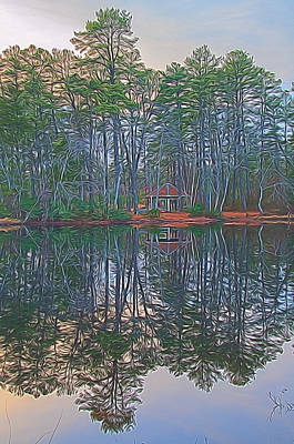 Digital Art - Reflections In The Pines by Beth Sawickie