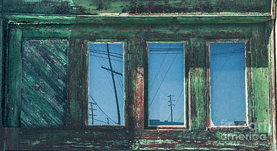 Photograph - Reflections In The Windows Of An Old Abandoned House  by Merton Allen
