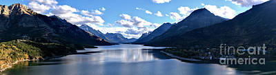 Photograph - Reflections In Upper Waterton Lake Panorama by Adam Jewell