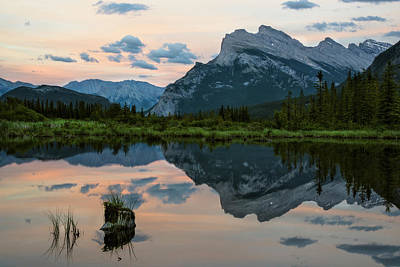 Photograph - Reflections In Vermillion Lakes, Banff National Park Canada 3 by Dave Dilli