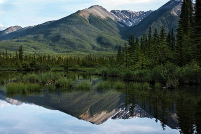 Photograph - Reflections In Vermillion Lakes, Banff National Park Canada 5 by Dave Dilli