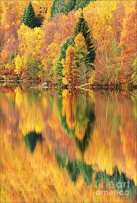 Reflections Loch Tummel Scotland Art Print by George Hodlin
