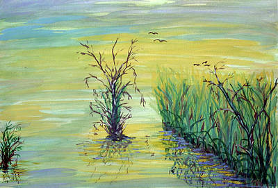 Peaple Painting - Reflections by Maria Woithofer