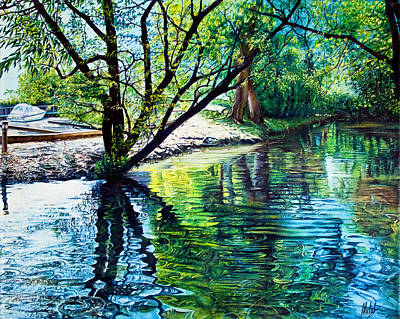 Painting - Trees Reflections by Michel Angelo Rossi