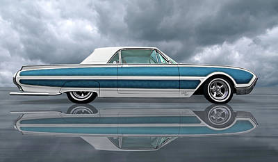 Photograph - Reflections Of A 1961 Thunderbird by Gill Billington