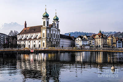 Lucerne Photograph - Reflections Of A Church by Pravine Chester