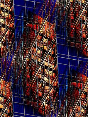 Beige Glass Digital Art - Reflections Of A City 3 by Tim Allen