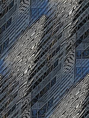 Digital Art - Reflections Of A City 4 by Tim Allen