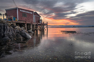 Maine Landscape Photograph - Reflections Of A Maine Fishing Shack by Benjamin Williamson