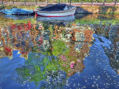 Reflections Of Amsterdam Art Print by Nadia Sanowar