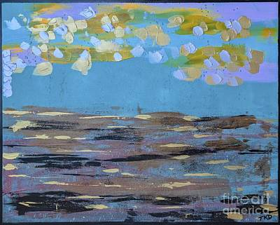Painting - Reflections Of An Oregon Beach by Theresa Kennedy DuPay