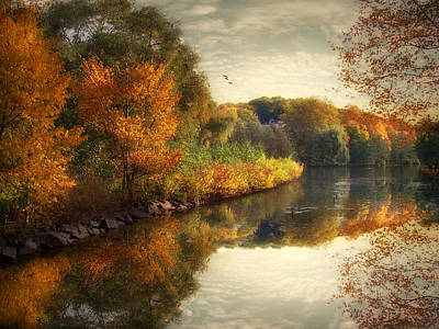 Autumn River Photograph - Reflections Of Autumn by Jessica Jenney
