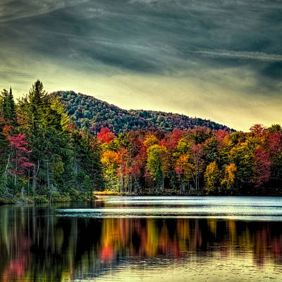 Fall Foliage Photograph - Reflections Of Autumn On West Lake by David Patterson