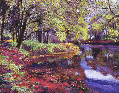 Most Popular Painting - Reflections Of Azalea Blooms by David Lloyd Glover