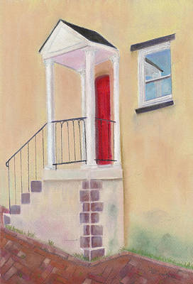 Red Door - Baltimore Art Print