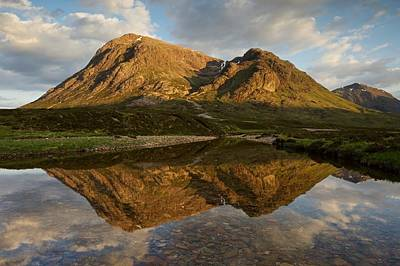 Photograph - Reflections Of Buachaille Etive Mor by Stephen Taylor