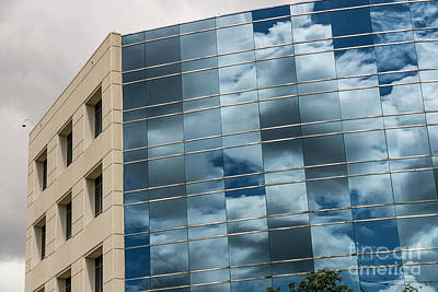 Photograph - Reflections Of Couds On Hud Building 4722 by Doug Berry