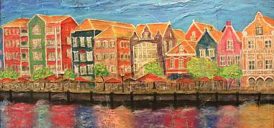 Low Price Painting - Reflections Of Curacao by Mark Prescott Crannell