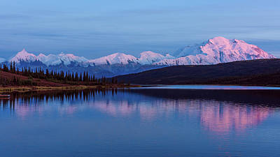 Photograph - Reflections Of Denali At Sunset by Brenda Jacobs