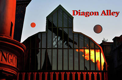 Photograph - Reflections Of Diagon Alley by David Lee Thompson