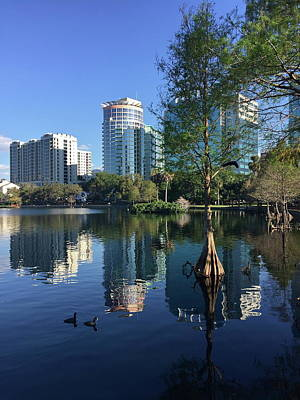 Photograph - Reflections Of Downtown Orlando by Denise Mazzocco