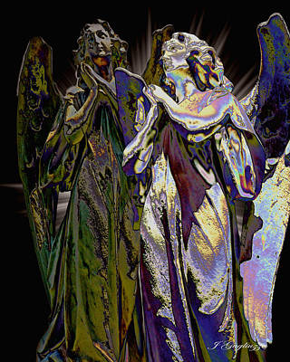 Angelic Digital Art - Reflections Of Faith by Jean Gugliuzza