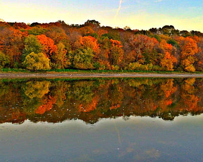 Photograph - Reflections Of Fall by Kathy M Krause