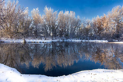 Photograph - Reflections Of Falwinter Idaho Landscapes By Kaylyn Franks by Omaste Witkowski