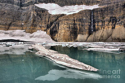 Photograph - Reflections Of Grinnell Glacier by Adam Jewell