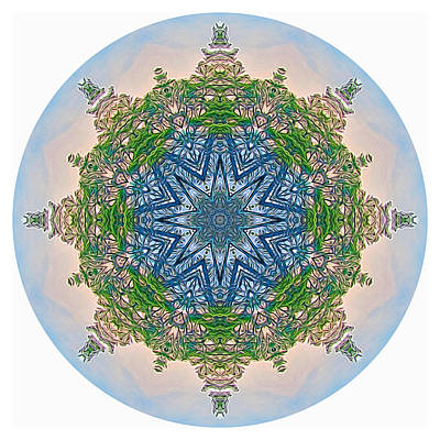 Digital Art - Reflections Of Life Mandala 2 by Beth Sawickie
